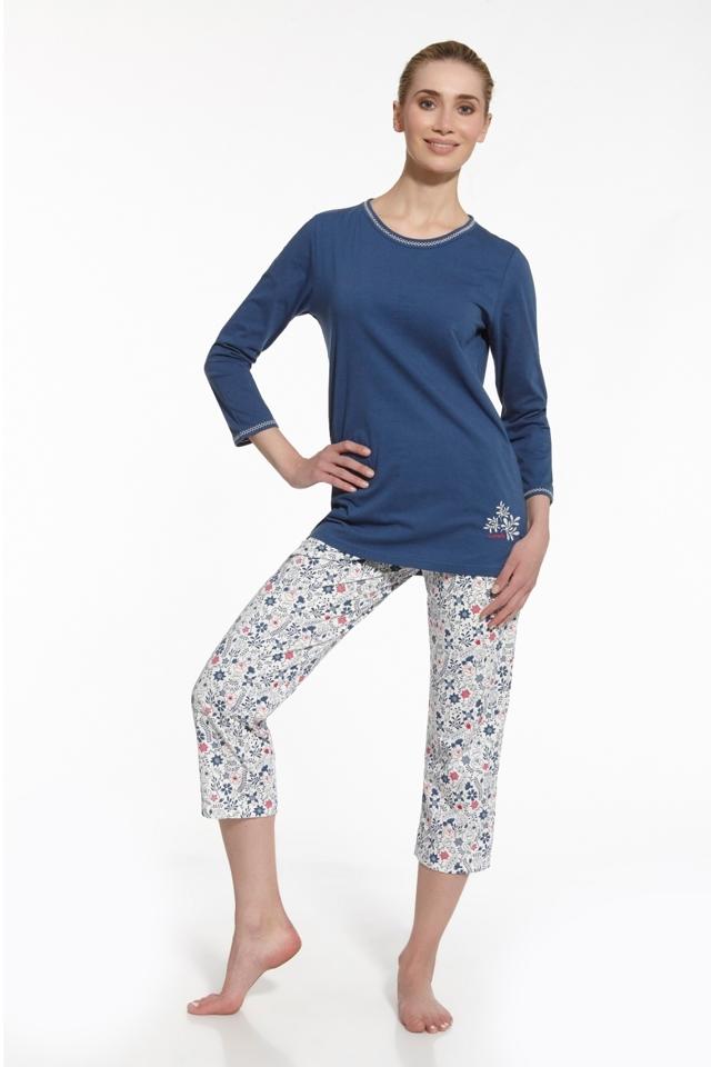 Dámské pyžamo 646/50 Sara - L - tmavě modrá