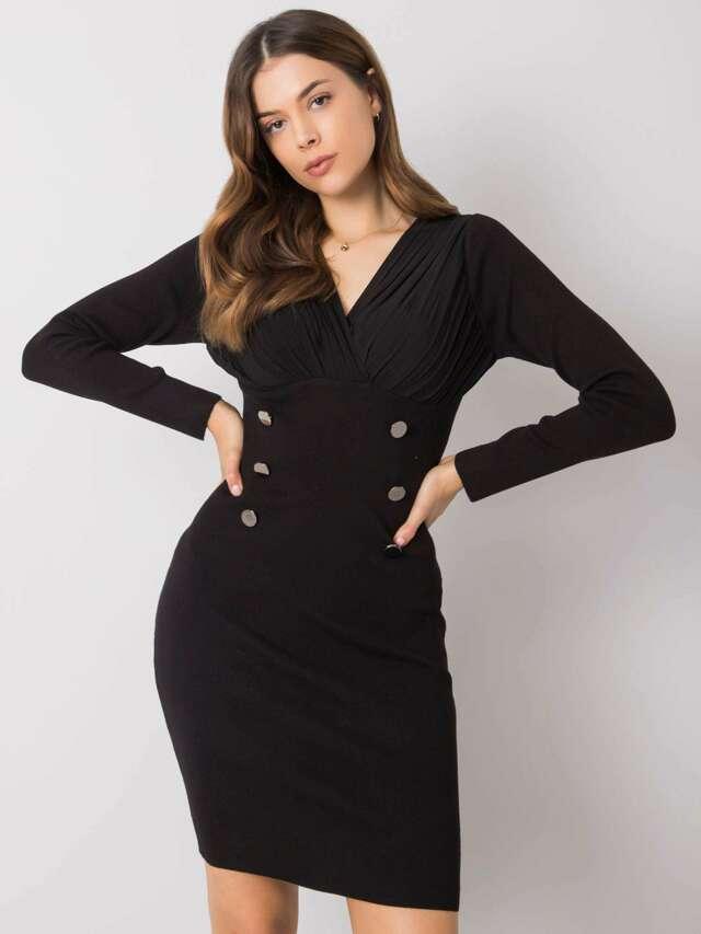Černé přiléhavé šaty - M/L