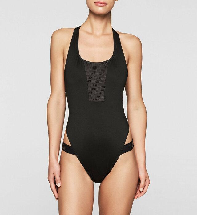Jednodílné plavky KWOKW00052 - Calvin Klein - M - černá
