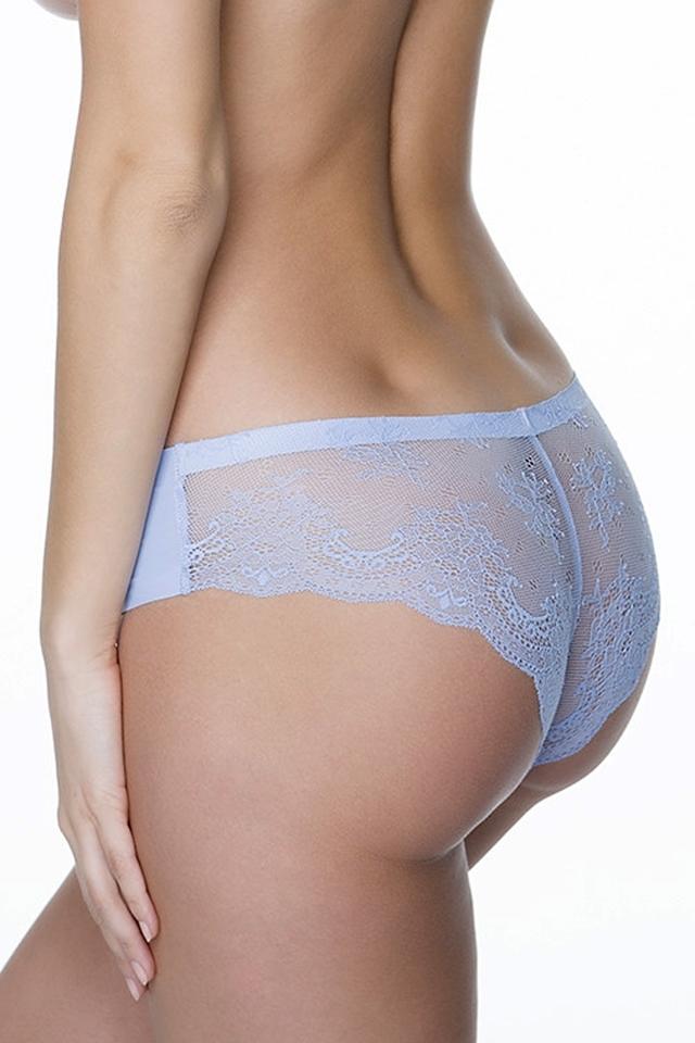 Dámské kalhotky Tanga light blue - XL - světle modrá