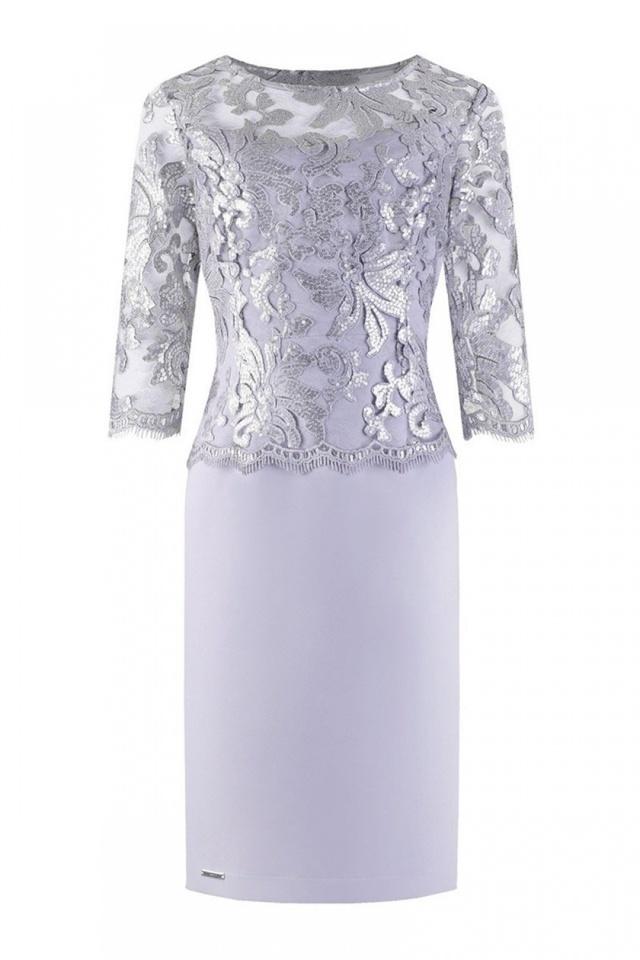 Společenské šaty model 108508 Jersa - 42 - šedá