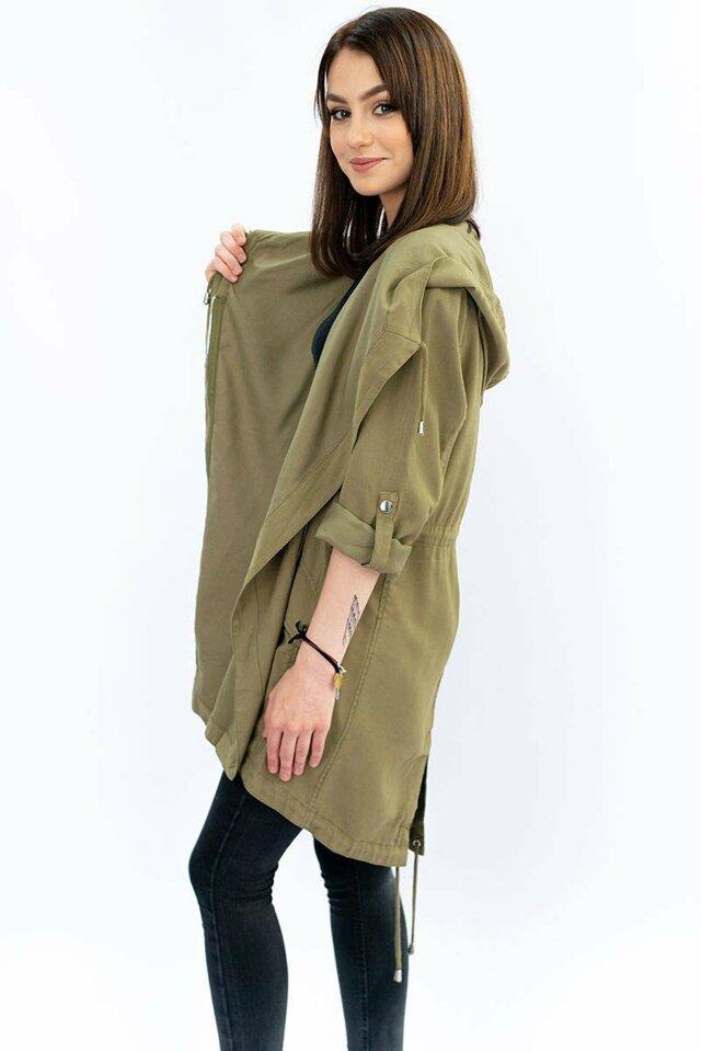 Tenká bunda v khaki barvě (MH-1708) - S (36) - khaki
