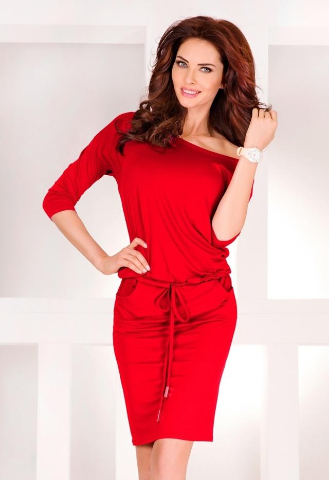 Červené sportovní šaty 13-17