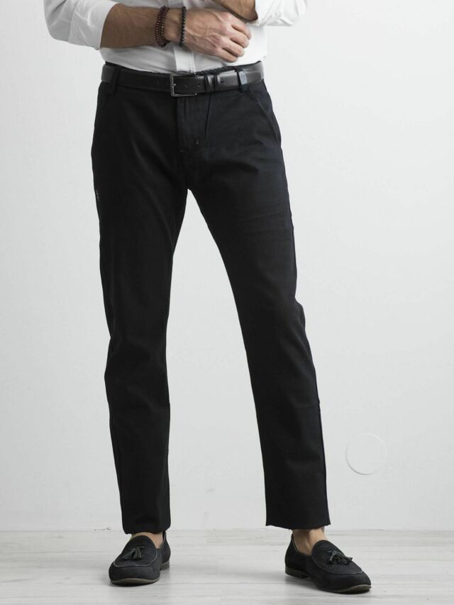 Pánské tmavě modré chino kalhoty - 30