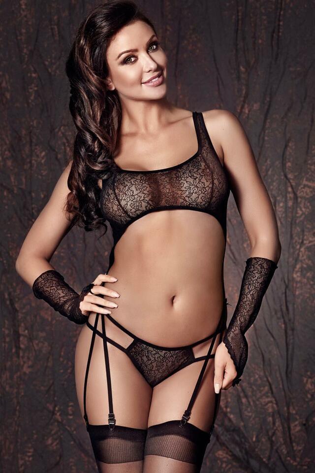 Sexy komplet Anais Tiffiny - XL - černá