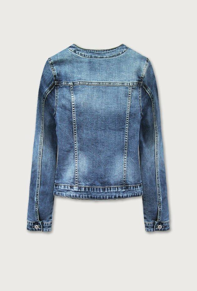Krátká světle modrá dámská džínová bunda (C016) - S (36) - modrá