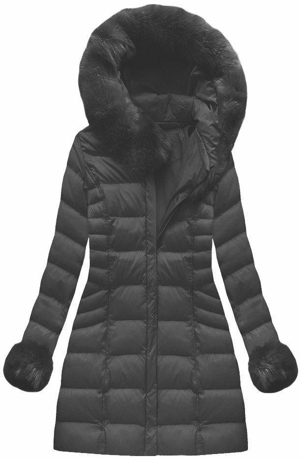 Černá dámská zimní bunda (W751BIG) - 46 - černá