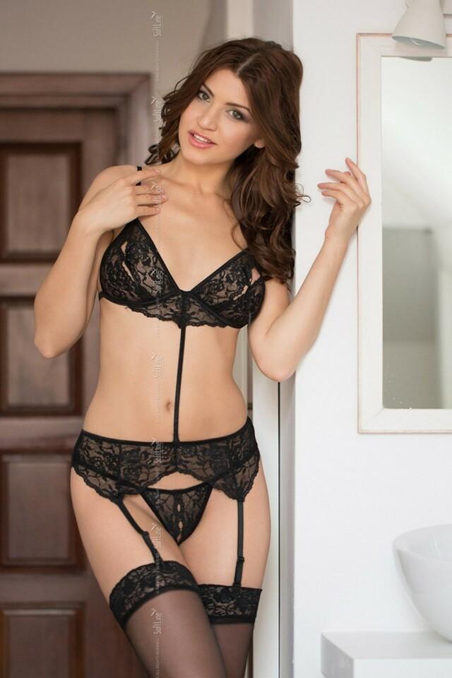 Erotická souprava Eliza black - M/L - černá