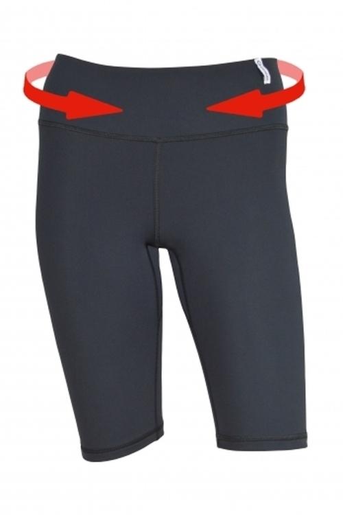 Fitness šortky Slimming shorts - middle - S - černá