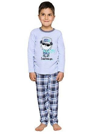 Chlapecké pyžamo Frantík kocourek modré