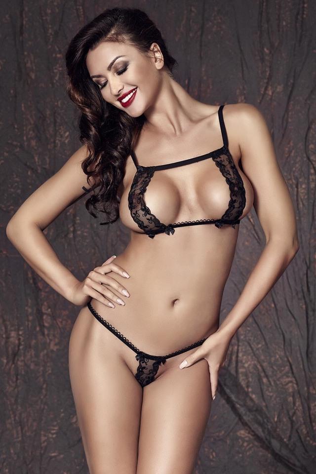 Erotický komplet Anais Cate - M - černá