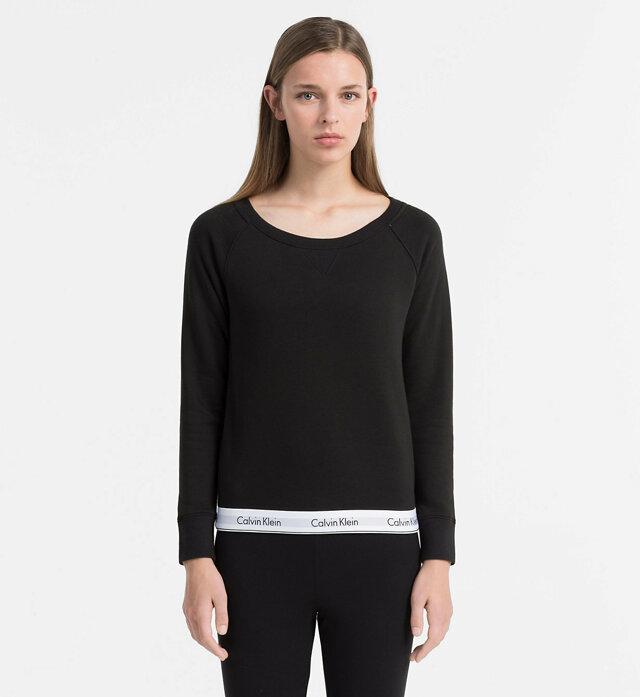 Dámská mikina QS5718E-001 černá - Calvin Klein