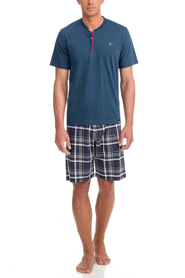 Vamp - Pánské pyžamo 12601 - Vamp - 5xl