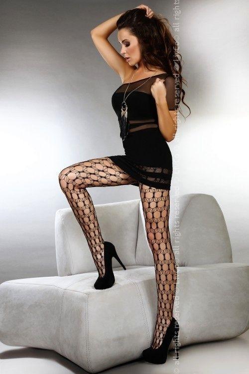 Punčochy Adira - Livia corsetti - S/L - černá