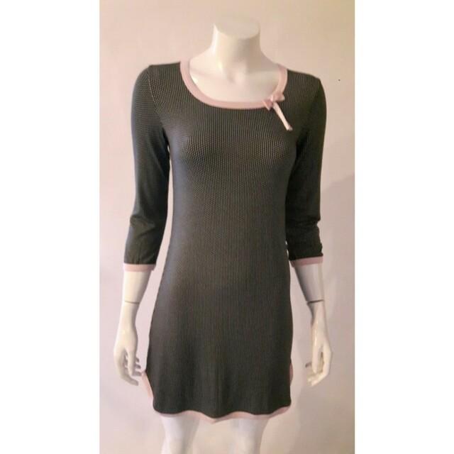 Dámská noční košile 595 YKG - CoCoon - L - černá-růžová