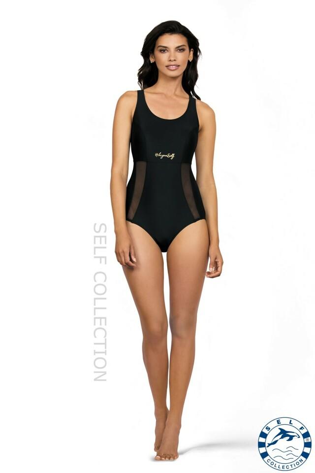 Jednodílné plavky 41 - Self - 2XL - černá