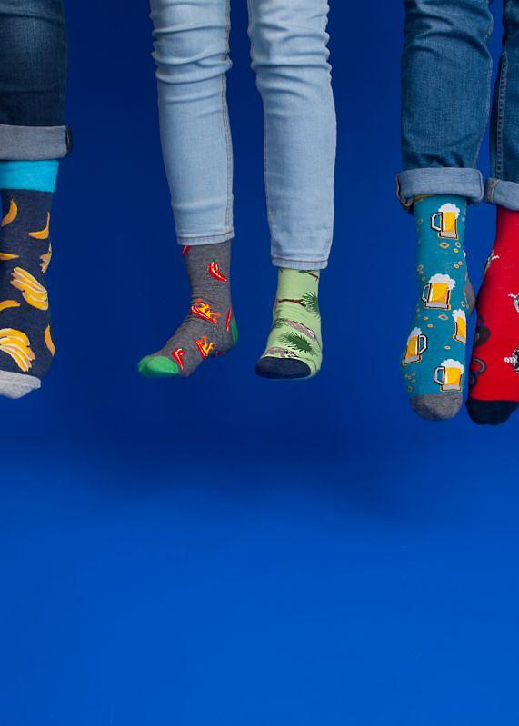 Pánské ponožky YO! Spoksy SK-54 - 39-42 - láhev zelená