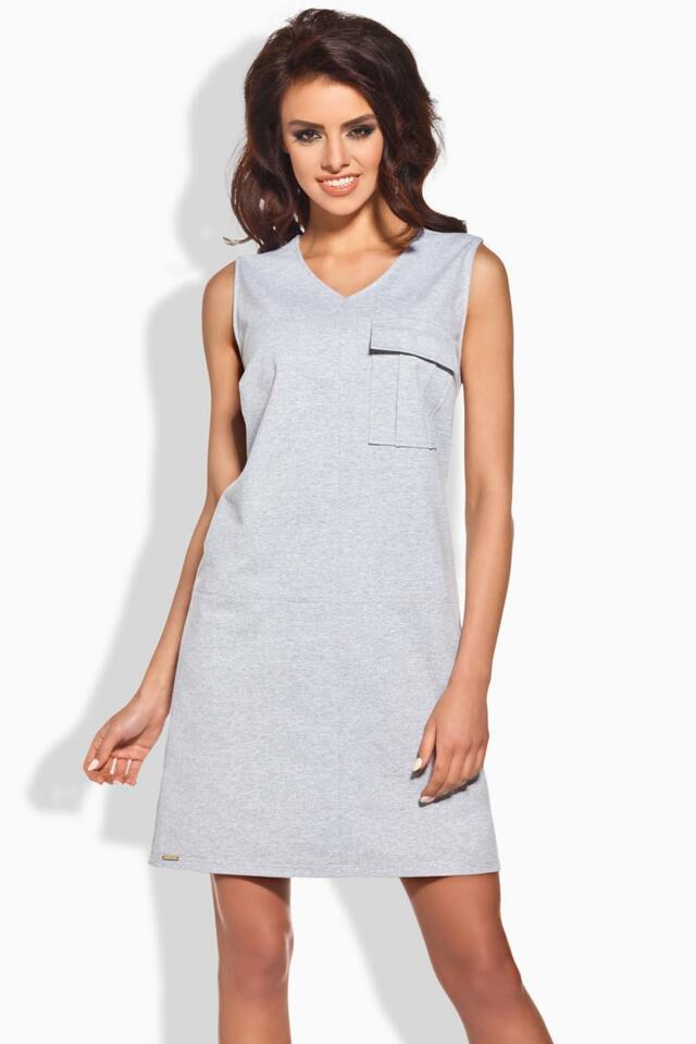Dámské šaty Lemoniade L122 - L - světle šedá