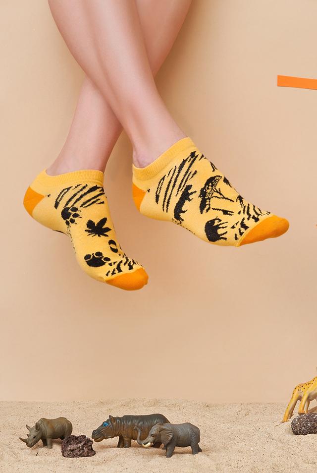 Kotníkové ponožky Spox Sox Safari - 44-46 - multikolor