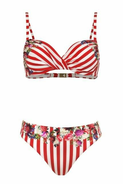 Dvoudílné plavky 5520/832/ - Maryan Mehlhorn - 40D - červeno-bílá