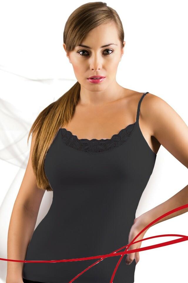 Dámská košilka Tosia plus black - XXL - černá