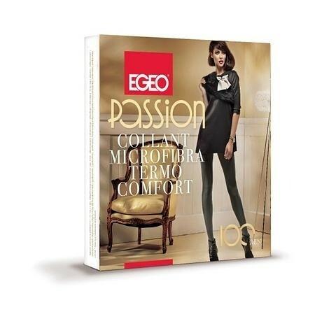 Punčochové kalhoty Egeo Passion Microfibra Termo Comfort 100 den 2-4 - 4-L - antracit/odstín šedé