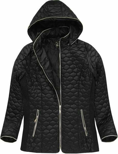 Černá dámská prošívaná bunda (7029BIG) - 48 - černá