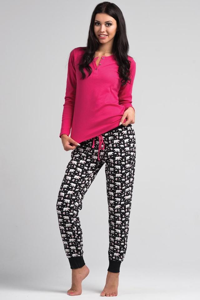 Bavlněné dámské pyžamo Rossli SAL-PY 1030 - L - růžová