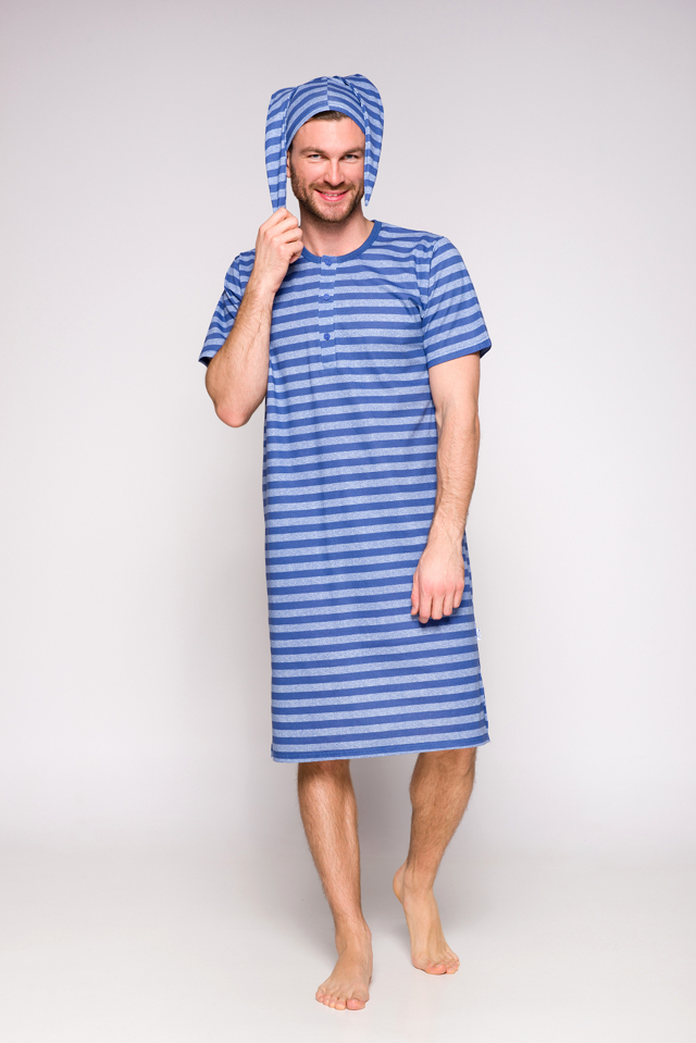 Pánská noční košile Taro Filip 108 kr/r L-2XL '19 - L - jeans