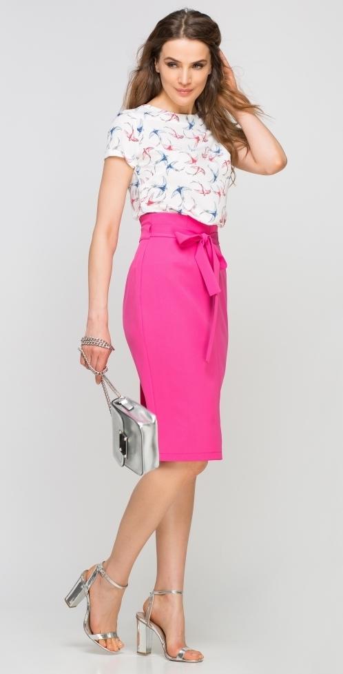 Dámská sukně pouzdrová SP115 - Lanti - 36 - růžová