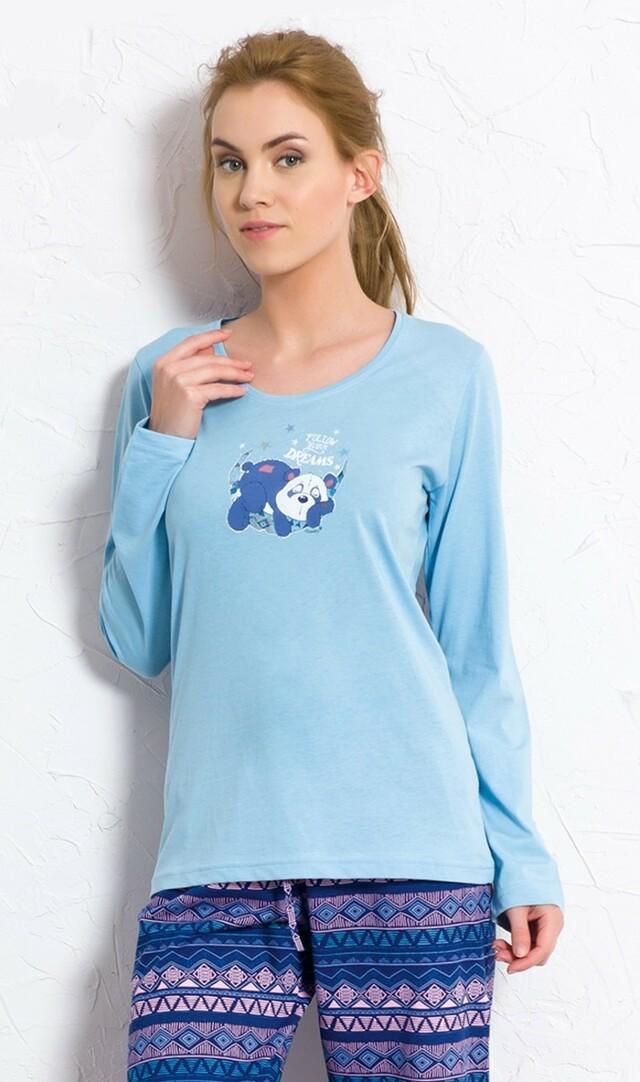 Dámské pyžamo dlouhé Panda