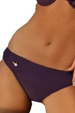 Plavkové kalhotky Andrea fialové s kamínkem