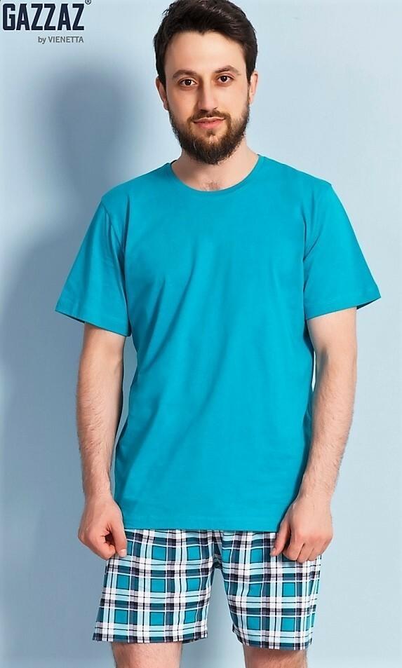 Pánské pyžamo šortky Rudolf - modrá M