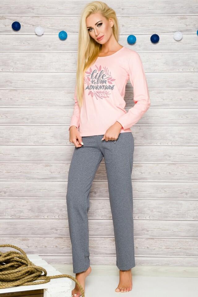 Dámské pyžamo 286 pink - M - růžová
