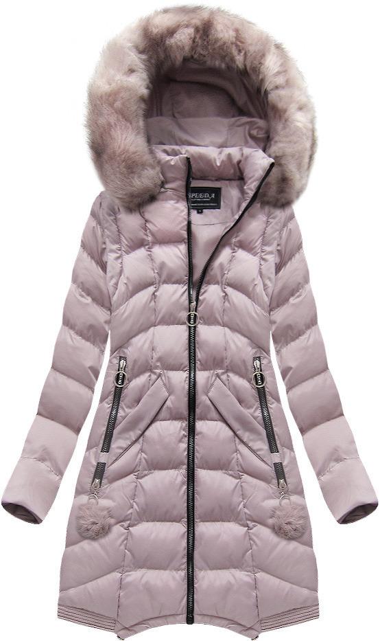 Růžová dámská bunda s odepínacími rukávy (W769) - M (38) - růžová