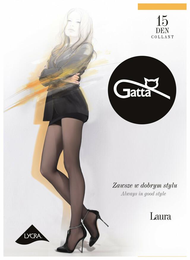 Punčochové kalhoty Gatta Laura 15 den 6-XXL - 6-XXL - odstín hnědé