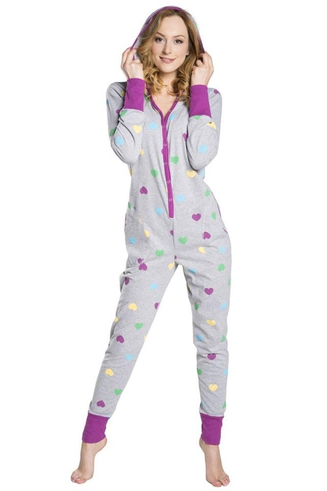 Pyžamový overal se srdíčky Ami na druky - S