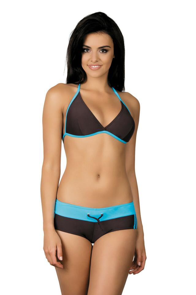 Dámské sportovní plavky Artis hnědé modré - L