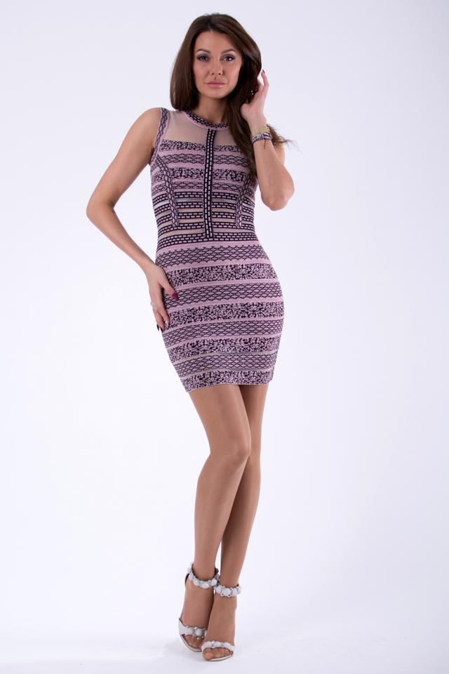 fe783facad25 Růžové šaty SOKY SOKA 46025-1(1209550) - 4