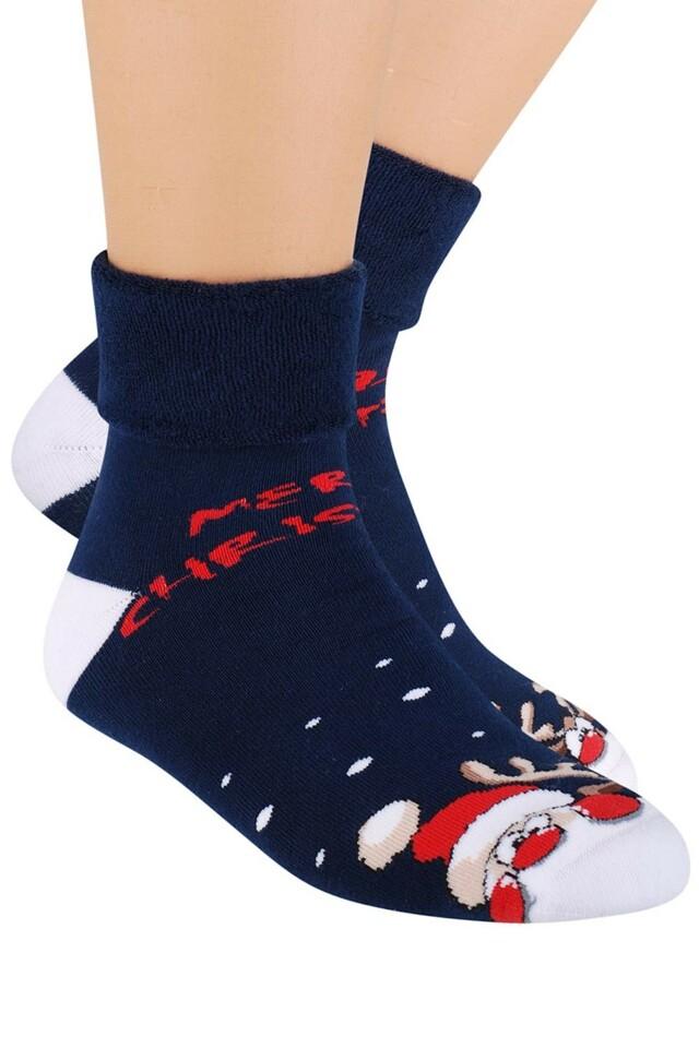badaa3dfa38 Dámské ponožky Steven 030-14 - 35-37 - tmavě modrá