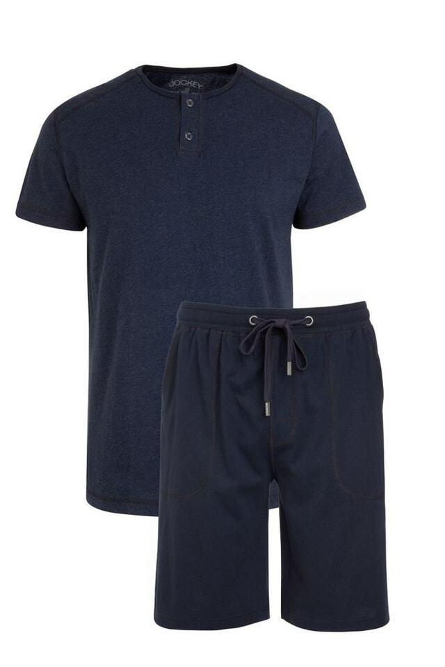 Pánské pyžamo 500006 - Jockey - XL - tm.modrá