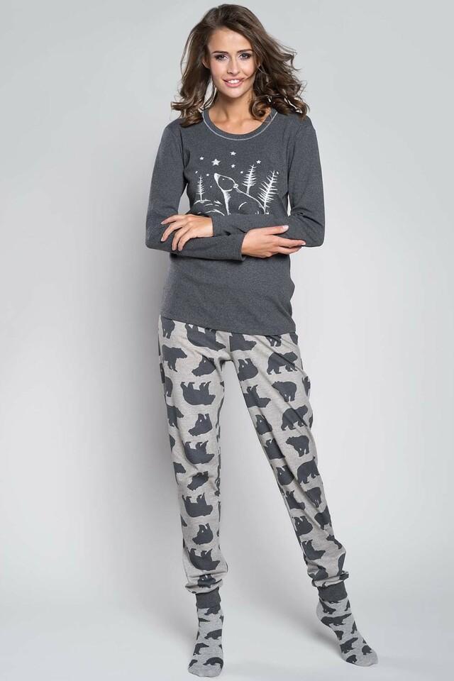 Dámské pyžamo Arctic - Italian Fashion - S - šedo-černá