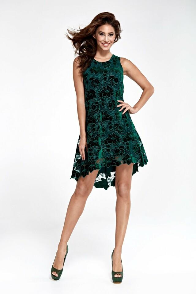 Dámské šaty 1735 Marselini - 38 - tmavě zelená 89d7bd1f8bf