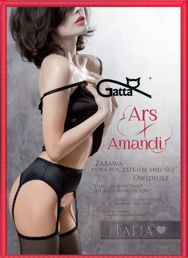 Punčochové kalhoty Gatta Ars Amandi Talia 01 - 1/2-XS/S - černá