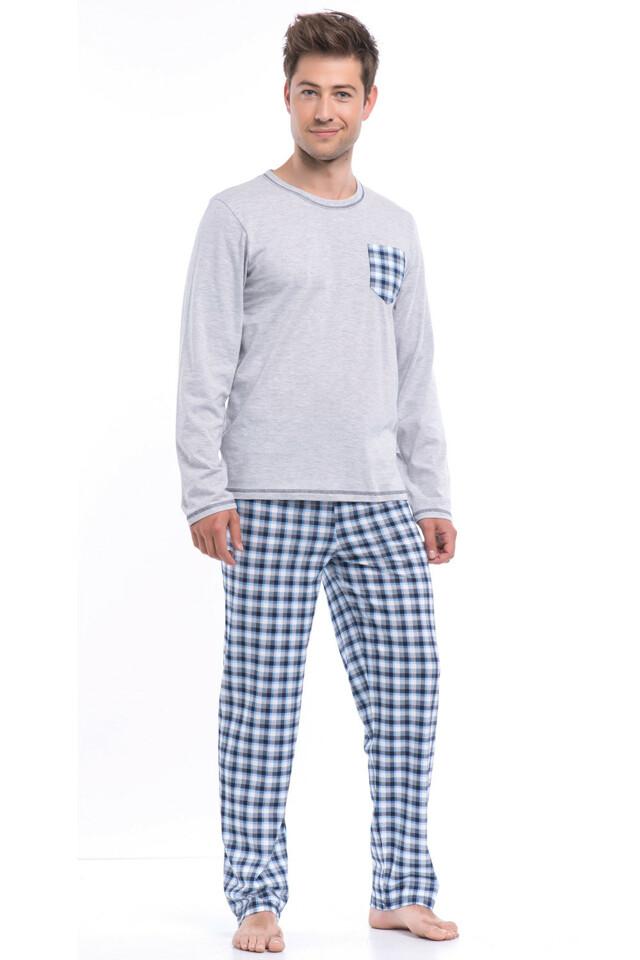Pánské pyžamo Dobranocka PMB.8015 - M - grey melange