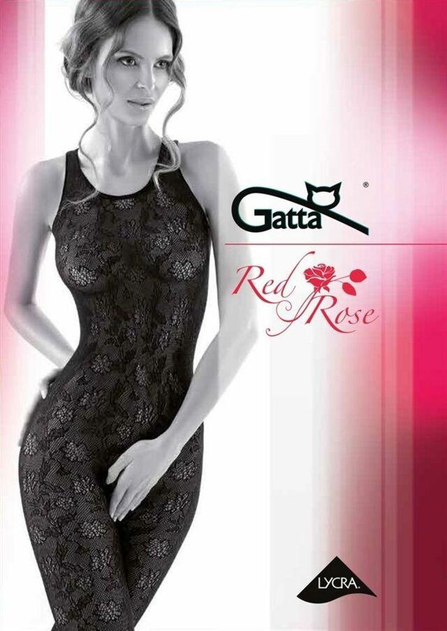Punčochové kalhoty typu fishnet RED ROSE - GATTA - 3-4 - NERO
