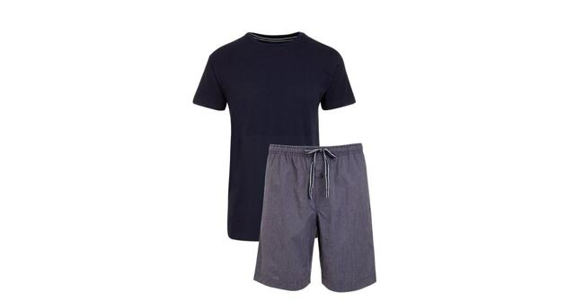 Pánské pyžamo 500202 -Jockey - L - tm.modrá