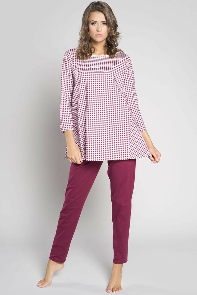 Dámské pyžamo Italian Fashion Venta - XL - bordó