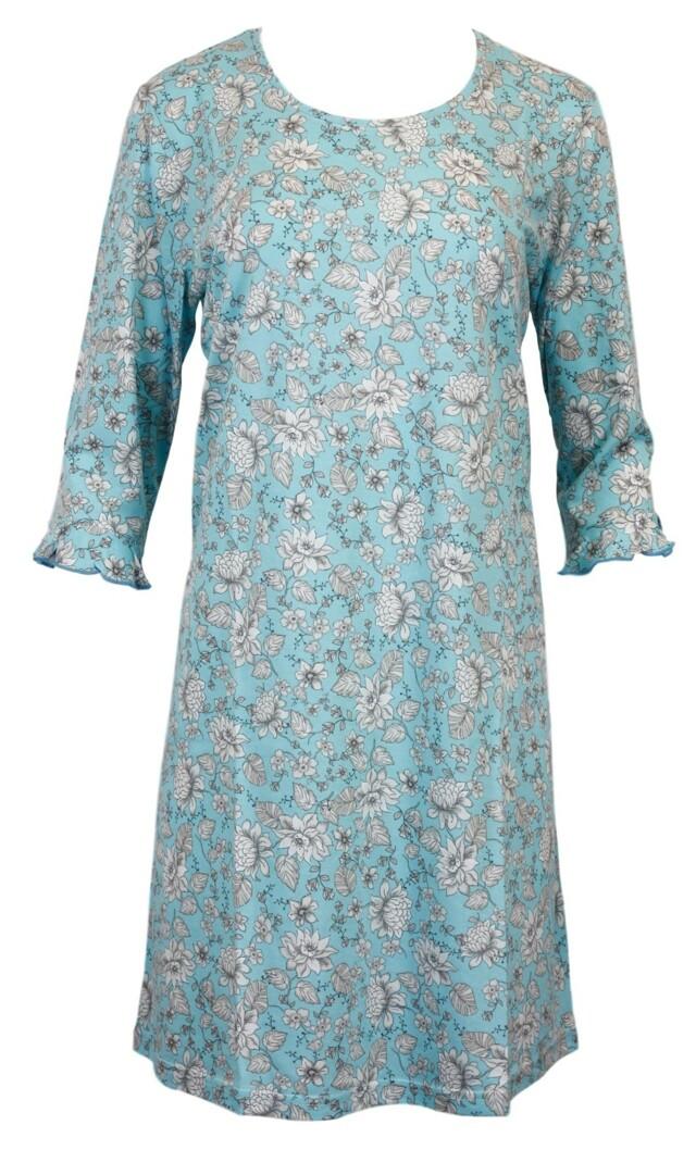 Dámská noční košile 6023 - Vamp - L - modrá