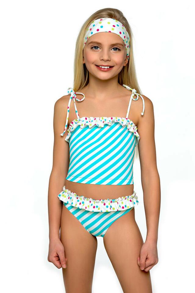 913b653388b3 ... Dětské lambadové plavky Adélka s proužky (200613) - 5